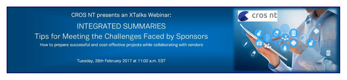 XTalks Webinar Integrated Summaries
